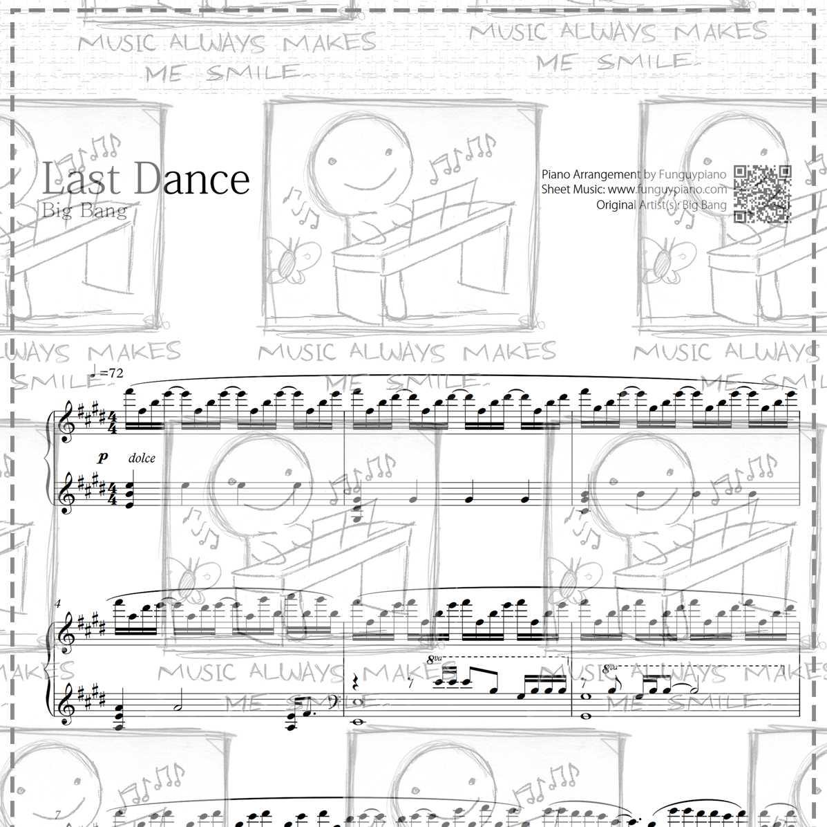 Big Bang - [MADE] Last Dance [ Sheet Music / Midi / Mp3 ]