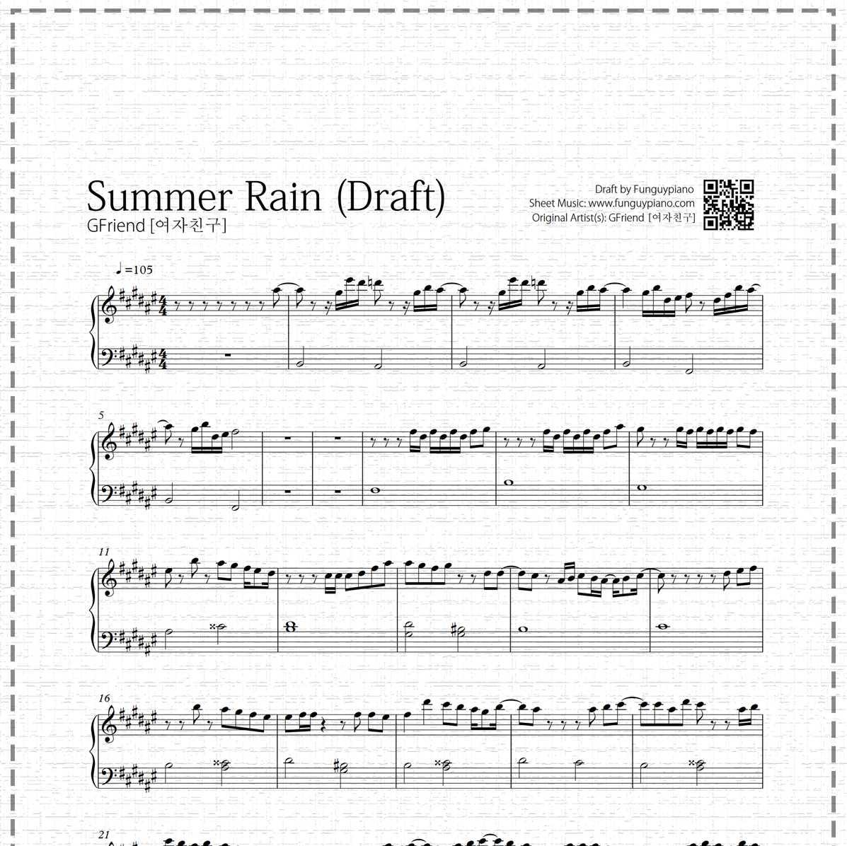 Gfriend - Summer Rain (Draft)