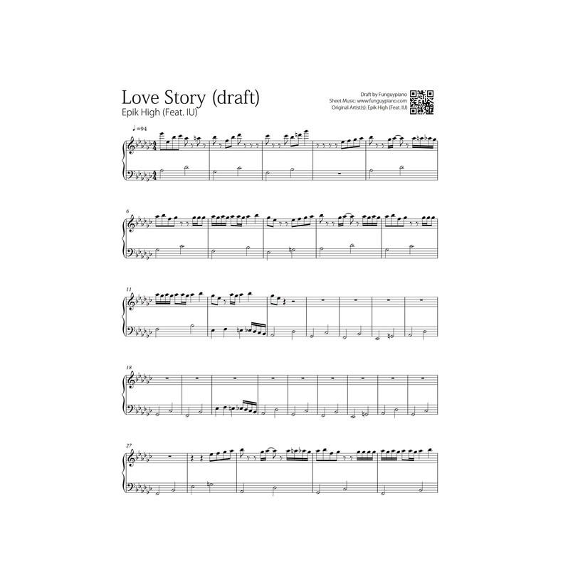 Piano easy piano sheet : IU Archives | Funguypiano