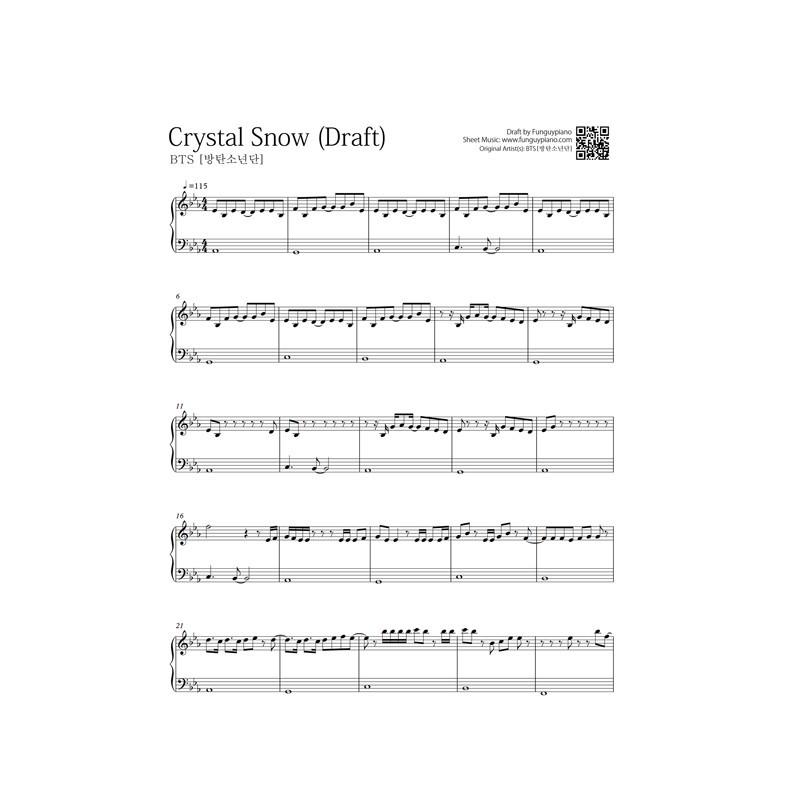 Bts Crystal Snow Free Piano Sheet Funguypiano