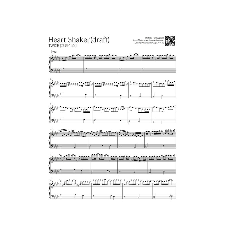 Capotastomusic Free Sheet Music Scores Love This Blog: Twice - Heart Shaker