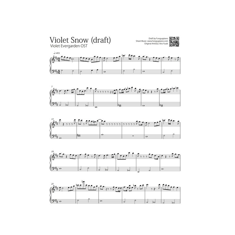 Violet Evergarden Ost Snow Easy Hard Piano Sheet Music: Viloa Kpop Music Sheets At Alzheimers-prions.com