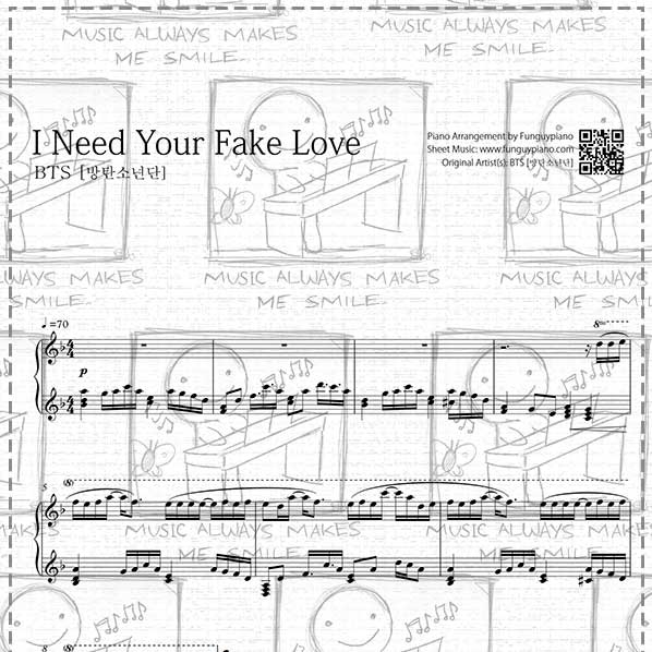 Fake love piano sheet music pdf