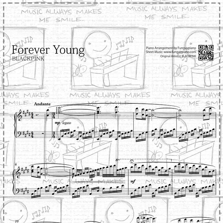 Piano Sheet Music Midi: Forever Young [ Sheet Music / Midi / Mp3