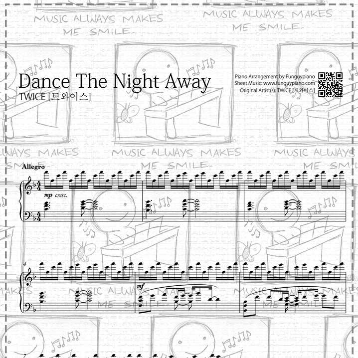 Piano Sheet Music Midi: Dance The Night Away [ Sheet Music / Midi / Mp3
