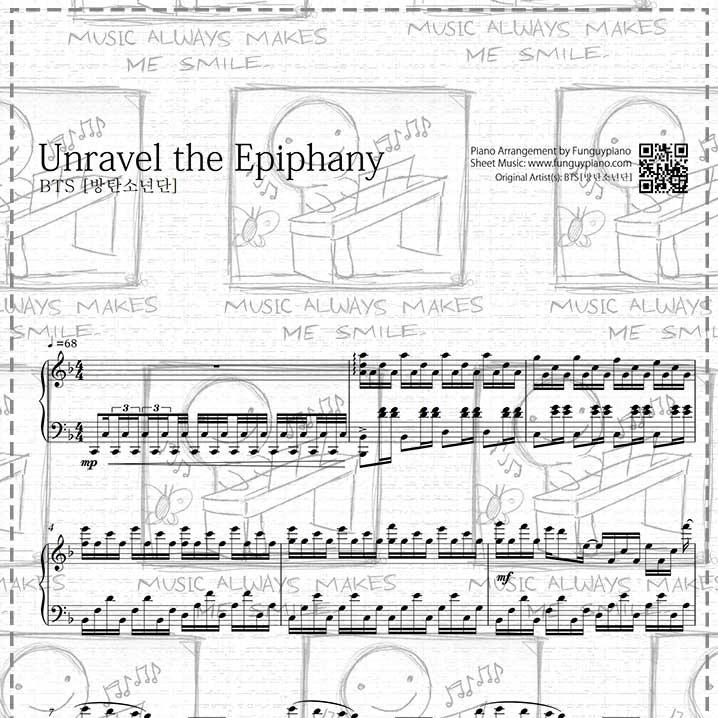 Piano Sheet Music Midi: Unravel The Epiphany [ Sheet Music / Midi / Mp3
