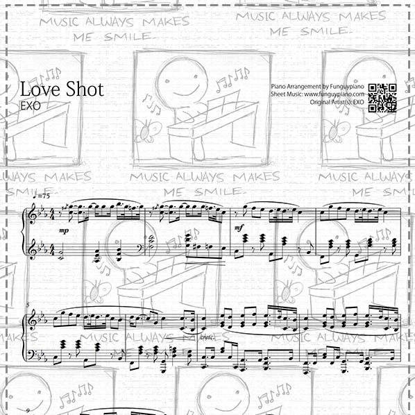 EXO - Love Shot [ Sheet Music / Midi / Mp3 ]