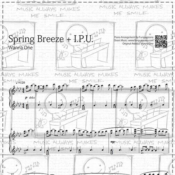Piano Sheet Music Midi: Spring Breeze + I.P.U. [ Sheet Music / Midi
